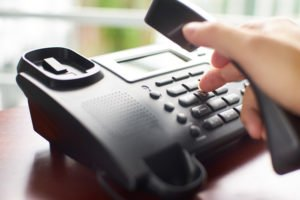 dialing a business phone