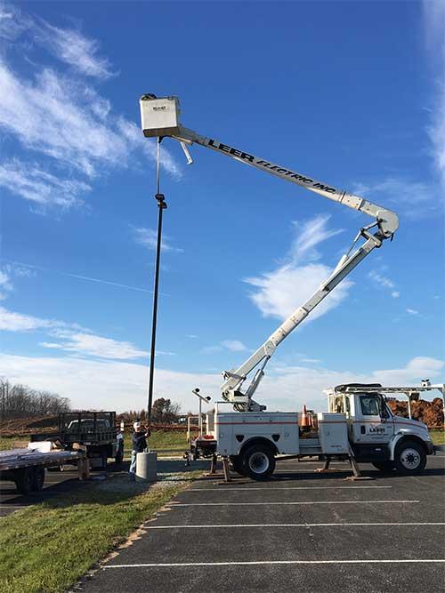 Bucket truck- Dillsburg, PA- Leer Electric